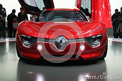 Renault DeZir electric car at Paris Motor Show Editorial Stock Image