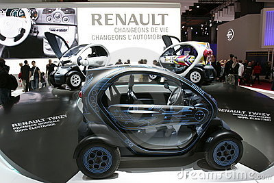 Renault electric twizy car Editorial Photography