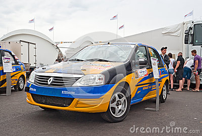 Renault Logan rally car from E2 Motorsport team Editorial Photo