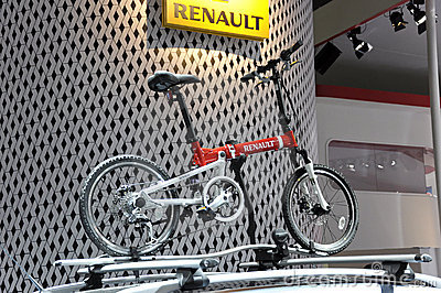 Renault small sport bicycle Editorial Stock Photo