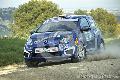 Renault Twingo rally car Editorial Image