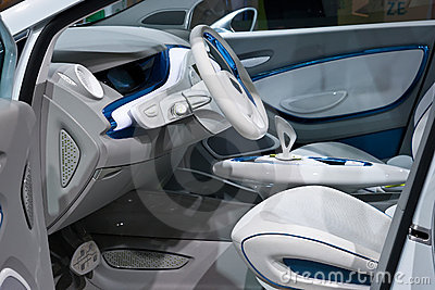 Renault Zoe interior Editorial Stock Photo