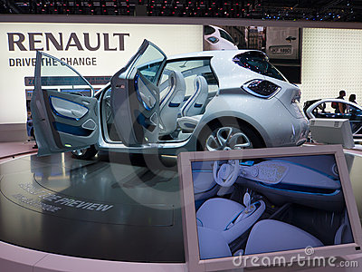 Renault Zoe Preview Editorial Stock Image