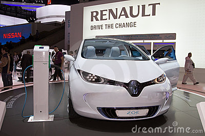 Renault Zoe Preview - Geneva Motor Show 2011 Editorial Stock Photo