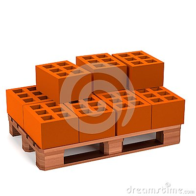 Render of construction material Stock Photo