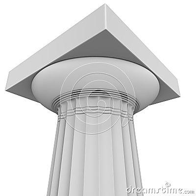 Render of  greek archaic Doric column
