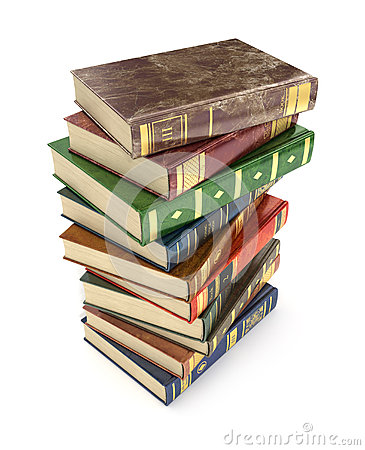 Free Render Of Stack Old Colorful Books Stock Photos - 65416503