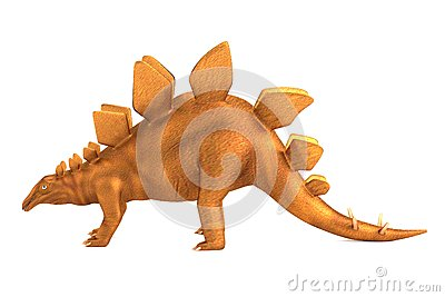 Render of stegosaurus