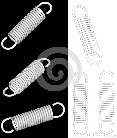 Render of tension spring