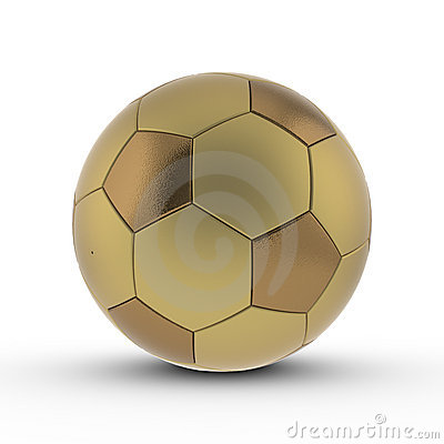 Rendered 3D soccer ball