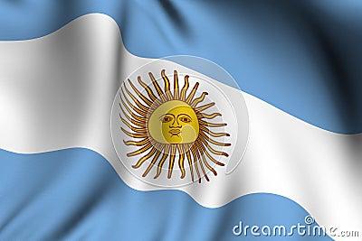 Rendered Argentine Flag