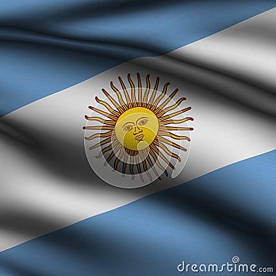 Rendered Argentine Square Flag