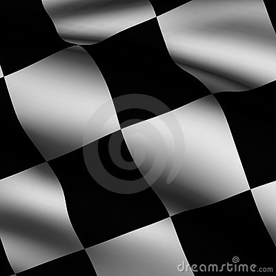 Rendered Chequered Square Flag