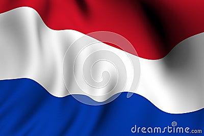 Rendered Dutch Flag