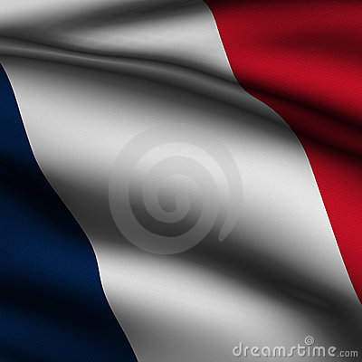 Rendered French Square Flag