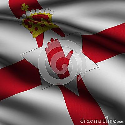 Rendered Northern Irish Square Flag
