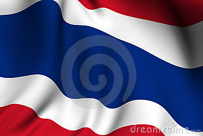 Rendered Thai Flag