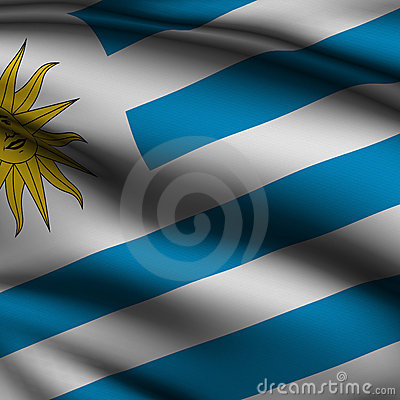 Rendered Uruguayan Square Flag