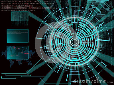 Rendering Of A Futuristic Cyber Background Target With
