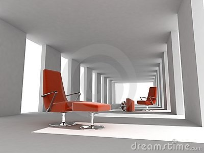 Rendering modern empty room interior