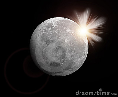 Rendering of a moon
