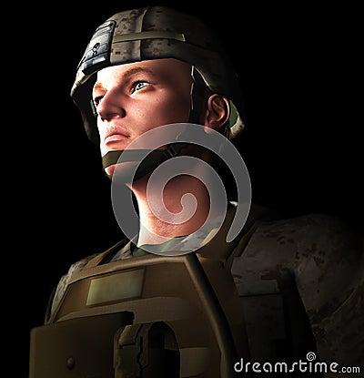 Soldado 3d