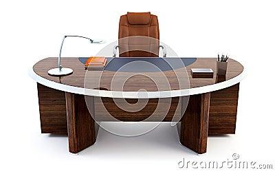 rendu du bureau 3d du directeur photographie stock libre. Black Bedroom Furniture Sets. Home Design Ideas