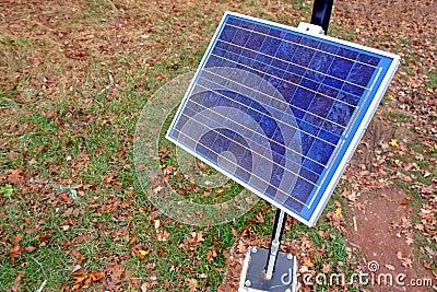 Renewable Clean Green Energy Solar Panel in Park