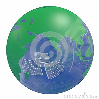 Renewable energy Earth globe