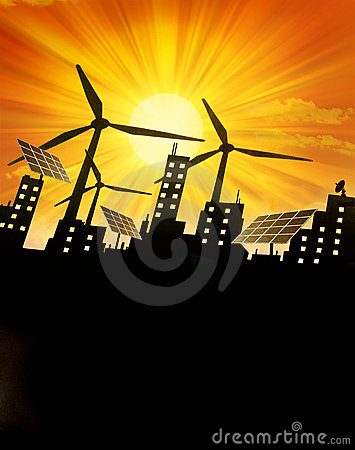 Renewable Green Energy Background