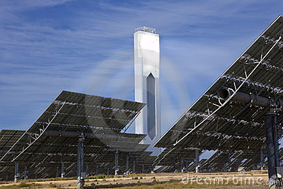 Renewable Green Energy Solar Tower & Mirror Panels