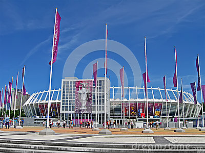 Renewed Olympic Sport Stadium in Kiev, Ukraine, Editorial Stock Photo