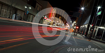 Reno at Night Editorial Stock Image
