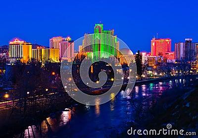 Reno at night Editorial Photo
