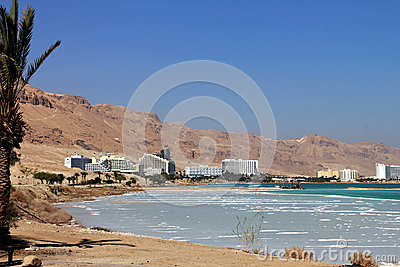 Renomowany zdrowie kurortu kompleks na Nieżywym morzu Zdjęcie Stock Editorial