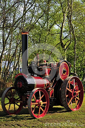 Renovated historic Traction engine