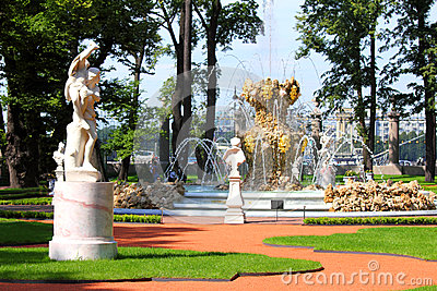 Renovated Summer garden park in St. Petersburg