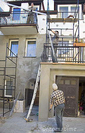Free Renovating House Facade Stock Photo - 3309890