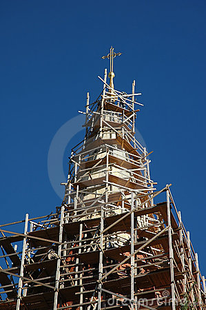 Renovation of an church tower