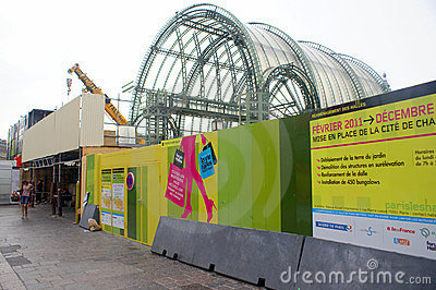 Renovation of Les Halles in Paris, June 2011 Editorial Stock Image