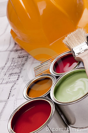 Free Renovation Plan Royalty Free Stock Photography - 9556597