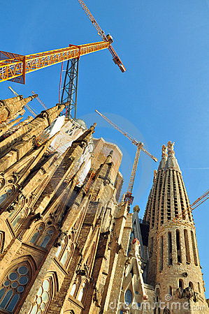 Renovation of Sagrada Família, Barcelona, Spain