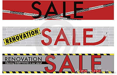 Renovation Sale banner