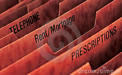 Rent or mortgage file