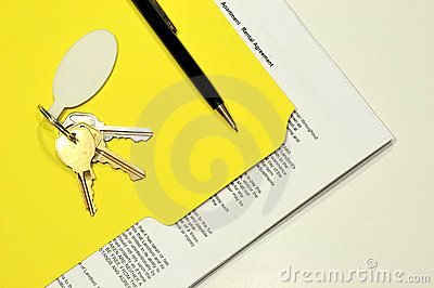 Rental agreement and apartment keys