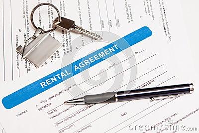 Rental agreement form