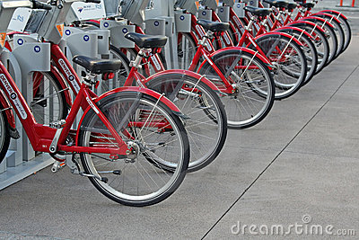 Rental Bikes Editorial Image