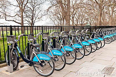 Rental Bikes Editorial Stock Photo