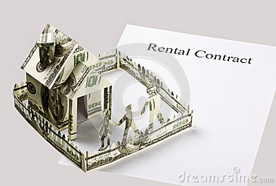 Rental contract and the money cut