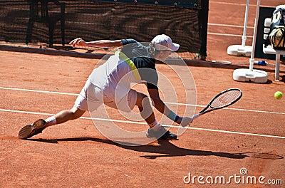 Renzo Olivo playing at ATP Genoa Open Editorial Stock Photo